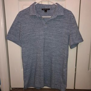 Michale Kors Men's Light Blue Polo Shirt